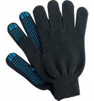 Перчатки х/б с ПВХ 5 нитей 10 класс чёрные